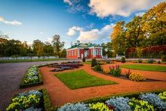 Gardens and autumn color outside Kadriorg Palace, at Kadrioru Pa royalty free stock photo