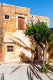 Gardens in the Basilica of Arkadi Monastery on Crete. Island, Greece Royalty Free Stock Image