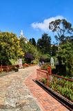 Gardens and basilica of Monserrate Stock Image