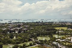 Gardens By The Bay from above in Singapore royalty free stock photos