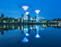 Gardens by the Bay  Avatar Lake River Garden lake landscape night River Royalty Free Stock Photo