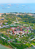 Gardens by the Bay bird's eye view Stock Photos