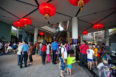 Gardens by the Bay at Chinese New Year Royalty Free Stock Image