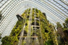 Gardens by the Bay Cloud Forest Dome in Singapore Royalty Free Stock Photography