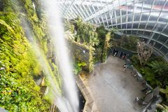 Gardens by the Bay Cloud Forest Dome in Singapore Royalty Free Stock Image