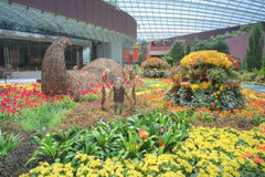 Gardens by the Bay, Flower Dome: Autumn Harvest Stock Image