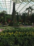Gardens By The Bay. Inside Flower Dome of Gardens By The Bay in Singapore with Parisian theme Royalty Free Stock Photo