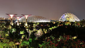Gardens by the Bay at night Royalty Free Stock Photography