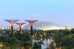 Gardens by the Bay is a park spanning 101 hectares of reclaimed Royalty Free Stock Photography