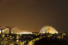 Gardens by the Bay Singapore. Singapore Garden by the Bay at night Stock Image