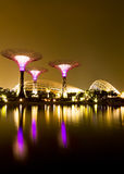 Gardens by the Bay Singapore. Singapore Garden by the Bay at night royalty free stock photo