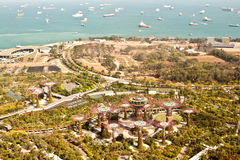 Gardens by the bay, Singapore, aerial view Royalty Free Stock Photo