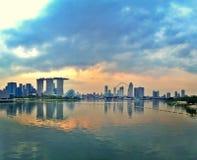 Gardens by the Bay - Singapore city skyline Royalty Free Stock Photos
