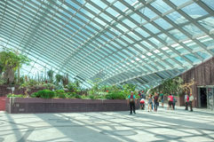 Gardens by the Bay, Singapore. Flower Dome, Gardens by the Bay, Singapore Royalty Free Stock Photography
