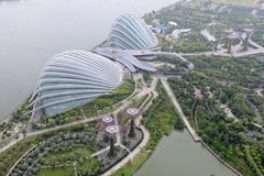 Gardens by bay in Singapore. The Gardens by the Bay park in Singapore Royalty Free Stock Photography