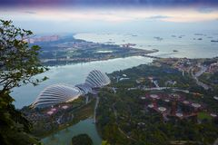 Gardens by the Bay, Singapore Port and city