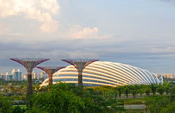 Gardens by the Bay. Super Trees and Flower Dome at Singapore Gardens by the Bay Stock Image