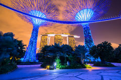 Gardens by the Bay Royalty Free Stock Photo