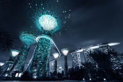 Gardens by the Bay or SuperTree Grove in Singapore Stock Photography