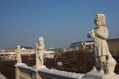 Gardens of the Belvedere. The gardens of the Belvedere palace, in Vienna, Austria Royalty Free Stock Photos