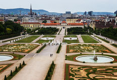 Gardens of the Belvedere castle in Vienna,. Austria Royalty Free Stock Photo
