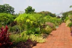 Gardens and Brick Walkway Stock Images