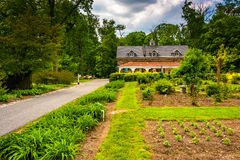 Gardens and building at Cylburn Arboretum in Baltimore, Maryland royalty free stock photography
