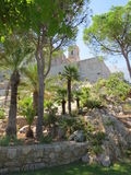 Gardens Castello Papa Luna Peniscola, Spain Royalty Free Stock Image