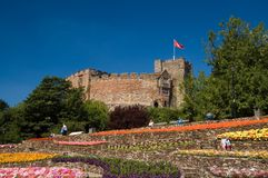 The gardens and the castle. Tamworth castle Stock Photography