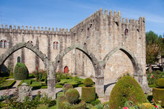 Gardens of the castle of Braga stock photography