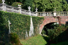 Gardens of Castle Buchlovice,Czech republic Stock Image