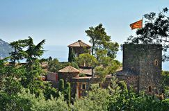 Gardens and Castle of cap roig Royalty Free Stock Photos