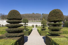 Gardens of the Castle of Villandry Royalty Free Stock Photo