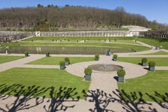 Gardens of the Castle of Villandry Royalty Free Stock Photography
