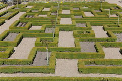 Gardens of the Castle of Villandry Royalty Free Stock Images