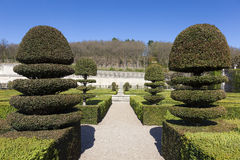 Gardens of the Castle of Villandry Stock Photo