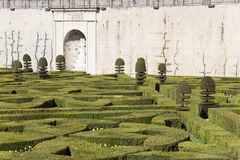 Gardens of the Castle of Villandry Royalty Free Stock Image