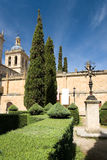 Gardens of the cathedral of Ciudad Rodrigo Stock Image