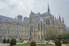Gardens cathedral Notre-Dame de Reims Royalty Free Stock Photo