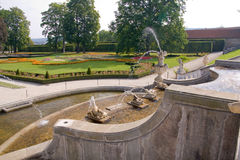 Gardens of Cesky Krumlov castle Royalty Free Stock Photos