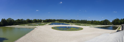 Gardens of Chantilly castle Royalty Free Stock Image