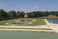 Gardens of Chantilly castle Royalty Free Stock Photos