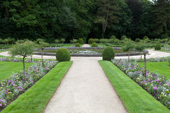 Gardens at Chateau Chenonceau Royalty Free Stock Photo