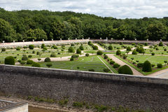 Gardens at Chateau Chenonceau Royalty Free Stock Images