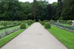 Gardens at Chateau Chenonceau Royalty Free Stock Photography