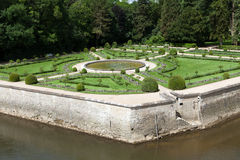 Gardens at Chateau Chenonceau Royalty Free Stock Image