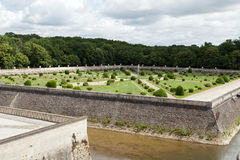 Gardens at Chateau Chenonceau in the Loire Valley Stock Photo