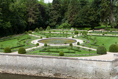 Gardens at Chateau Chenonceau Stock Photos