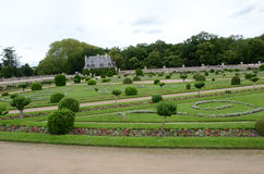 Gardens at Chateau Chenonceau Stock Photo