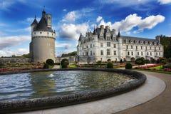 Gardens, Chateau de Chenonceau, Loire Valley, France Stock Photography